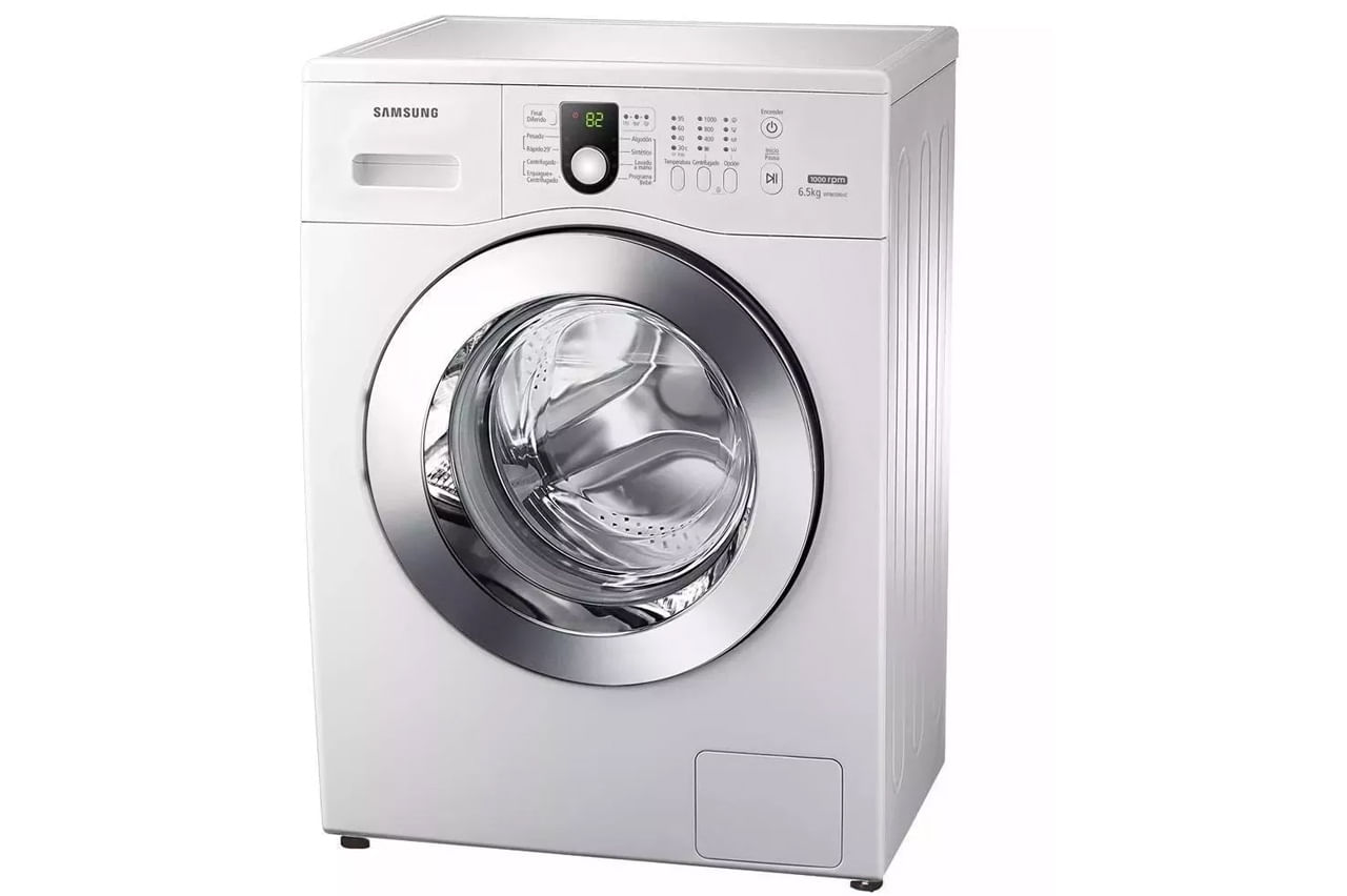 materiales superiores completo en especificaciones real mejor valorado Lavarropas Samsung Ww65 6,5 Kg 1000 Rpm Blanco
