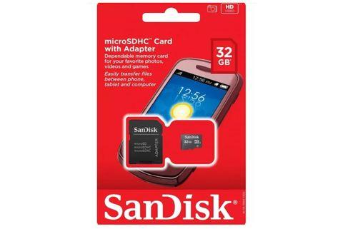 Memoria-MicroSDHC-SanDisk-SDSDQM-032G-B35A---32GB---Clase-4---C-Adaptador