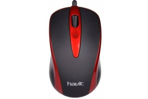 MOUSE-HV-MS-753-NEGRO-ROJO-HAVIT