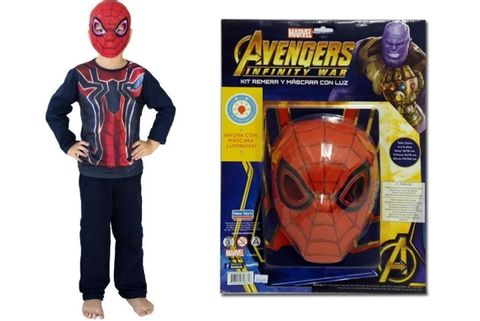 KIT-SPIDERMAN-REMERA-MASCARA-C-LUZ-ART.CAD132710-NEW-TOYS